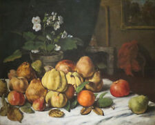 "oil painting handpainted on canvas ""Apples, Pears, and Primroses ""@NO5851"