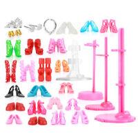 55x Accessoires Poupées Pour Poupées Barbie Cintres Talons Hauts Vélo Cadeau