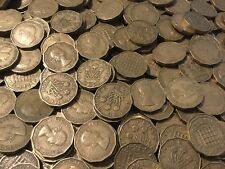 Job Lot Of 100 X Old threepence coins Of King george And Queen elizabeth
