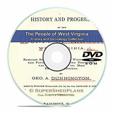 West Virginia, WV, Civil War, Family Tree History Genealogy 74 Books DVD CD B19