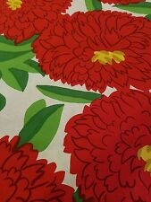 Marimekko Fabric PRIMAVERA Two  yds  x 56  RED Cotton Maija Isola Christmas