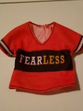 "BARBIE DOLL TOP, RED ""FEARLESS"" SHIRT"