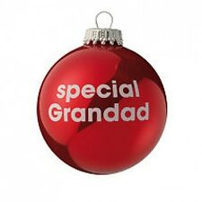 Special Grandad - Red Christmas Tree Bauble