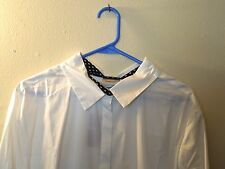 NWT - Avenue - 26 / 28 - Button Front - Long Sleeve - White / Black