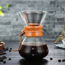 Borosilicate Glass Maker Coffee Pour-Over Heat resistant Pot for Hand Drip Coffe