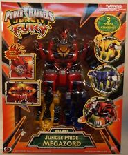 Power Rangers Jungle Fury Deluxe Jungle Pride Megazord Tiger Cheetah Jaguar MIB