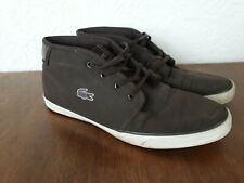 Mens Lacoste Ampthill Suede boots UK 8 EUR 42 US 9 Brown