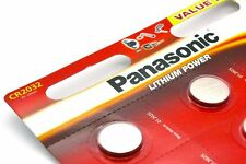 5 x PANASONIC CR2032 Lithium Knopfzellen 3 Volt CR 2032 ø20x3,2mm