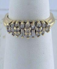 LADIES 10K YELLOW GOLD 1/2ct DIAMOND ANNIVERSARY CATHEDRAL WEDDING BAND RING