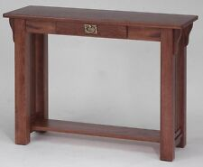 #169 Solid Oak Mission Sofa Table