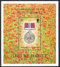 Isole Solomon 1995 non dimentichiamolo/fine della seconda guerra mondiale/MILITARY/PAPAVERI/MEDAGLIA 1 V M/S (n39786)