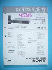 Service-Manual für Sony SLV-777,ORIGINAL
