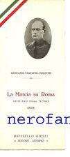 La Marcia su Roma-Ode di Giovanni Targioni Tozzetti-1922-Editore Giusti Livorno