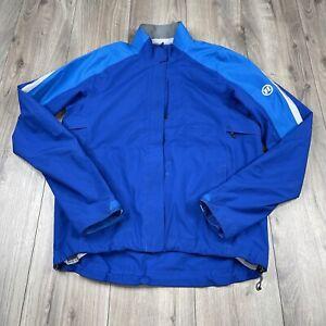 Novara Men's Reflective Cycling Bike Jacket Blue Size M Medium