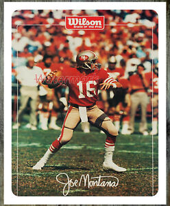 NFL San Francisco 49ers Joe Montana Game Action Color Poster 16 X 20 Photo