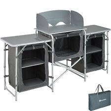 Campingküche Alu Küchenbox Campingschrank Faltschrank faltbar Windschutz Outdoor