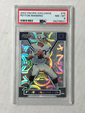 PEYTON MANNING 2002 Pacific EXCLUSIVE REFRACTOR SP BASE! PSA NM-MT 8! #76! COLTS