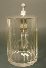 Bierkrug, um 1900. Mundgeblasenes und handgeschliffenes Glas. 0,3L Eichung.
