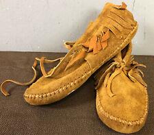 Vintage Leather Low Moccasins Women's Guilmox Guilfair New Nos Sz 8.5/9 *B12*
