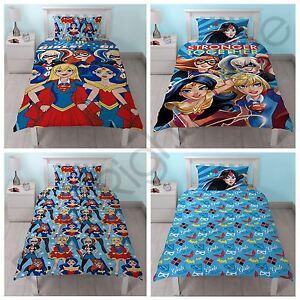 DC SUPER HERO GIRLS DUVET COVERS - SINGLE BEDDING KIDS BLUE