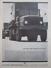 1/1964 PUB LITTON MODICON AUTOMATED AIR WEAPON CONTROL SYSTEM MILITARY TRUCK AD