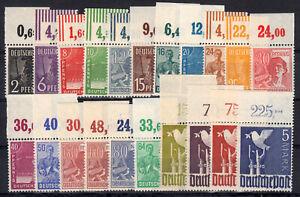 943/962 OR (Arbeiter/Taube), Oberrand-Satz Platte/Walze, 21 Werte, postfrisch
