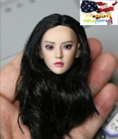 "1/6 female head black hair for 12"" figure Phicen TBLeague  Phantom Killer ❶USA❶"