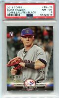 2018 Topps Salute Black 75 Clint Frazier Rookie 263/299 PSA 8 NM-MT