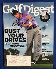 Graeme McDowell Autographed Magazine Signed PGA Golf Autographed Pricing Sticker
