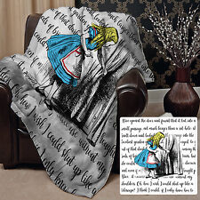 "Alice In Wonderland Fleece Blanket Throw Looking Through The Curtain 58"" x 58"""
