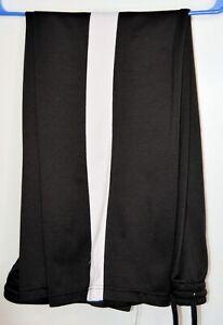 Danskin Now XL 16-18  Black workout pants white vertical stripe