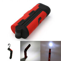 COB LED Torch Flashlight Work Light Magnetic AA Battery Power Lamp With Hook SD
