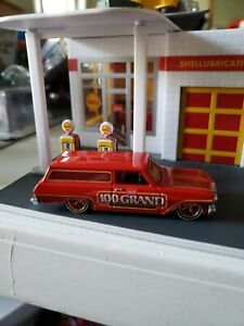 HOT WHEELS 64 NOVA DELIVERY WAGON PART OF 100 GRAND  SERIES REAL RIDERS  LOOSE
