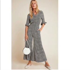 Anthropologie LOVELAND WIDE-LEG JUMPSUIT size 14 new nwt