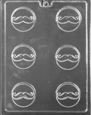 D116 Mustache Cookie Chocolate Candy Mold w/Instructions