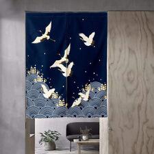 Japanese Noren Door Curtain Doorway Divider Feng Shui Tapestry Home Decor Crane