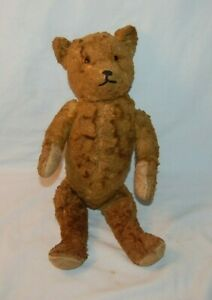 """Antique 15 """" Jointed Mohair Teddy Bear with Growler"""