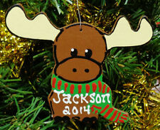 U CHOOSE NAME & YEAR Personalized MOOSE Christmas ORNAMENT Holiday Decor