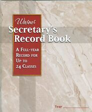 Warner Secretary's Record Book for up to 24 classes, full year