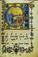 "Illuminated Antiphon Archival PRINT 12x16"" image size 8 x12"" Museum Grade NEW"