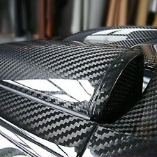 5D Carbon Fiber Vinyl Wrap Shinny Sticker Glossy Ultra Black Gloss Decal