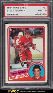 1984 O-Pee-Chee Hockey Steve Yzerman ROOKIE RC #67 PSA 9 MINT