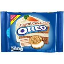 NEW NABISCO OREO CARROT CAKE FLAVOR COOKIE CREAM CHEESE FROSTING CREME 12.2 OZ