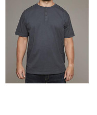 Replika Jeans Henley T-Shirt/Dark Grey - 5XL  SRP £27.99