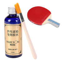 100ml Speed Liquid Super With Special Brush Pingpong Racket Rubbers Glue _7
