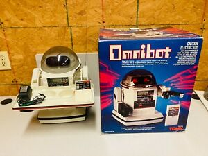 Vintage 1984 Tomy Omnibot 5402 w/ Box Partially Working Needs Repair