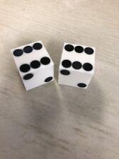 White Casino Quality Dice 5/8 Inch