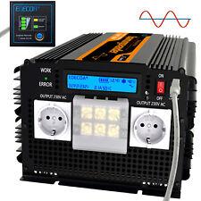 Inversor onda pura 3500W 7000W Convertidor 12V 220V Transformador LCD RV EDECOA