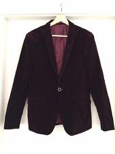 SCUZZATTI Plum Velvet Dinner Tuxedo Blazer Suit Jacket Sz 36 #13774