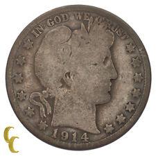 1914 Silver Barber Half Dollar 50C (Good, G Condition) Full Rims!